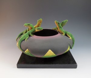 Five Lizard Bowl by Nancy Yturriaga Adams