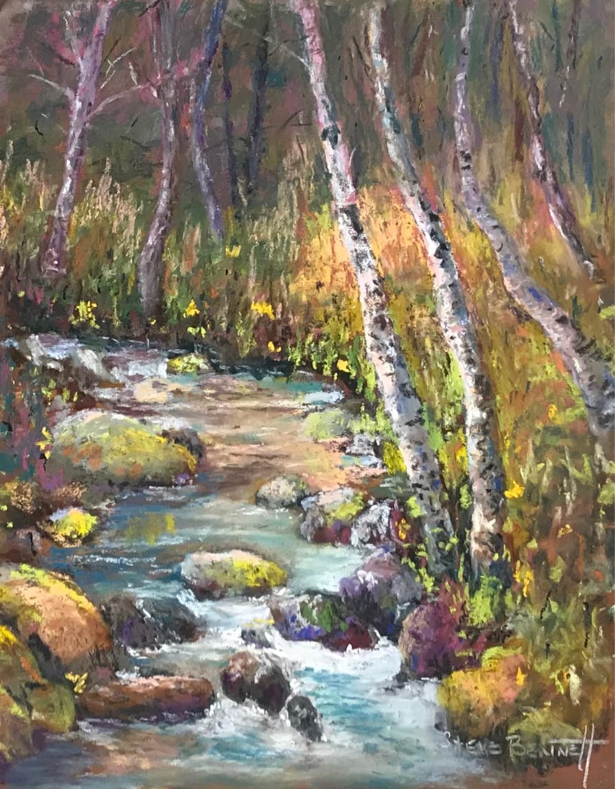 Artists Workshop 34th Annual Show and Sale - image of Lithia Water, pastel painting by Steve Bennett