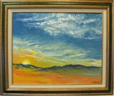 Sunset Over the Valley, Oil painting by Bill Stanton