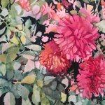 Garden Blooms, watercolor by Anne Brooke