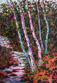 Lithia Park, painting by Sue Bennett