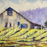 Vineyard, painting by Walt Wirfs
