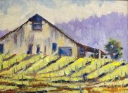 Vineyard, painting by Walt Wirfs