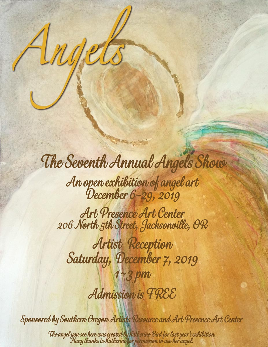 Angels Show 2019: Poster for the 2019 Angels Show at Art Presence Art Center