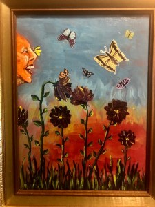 Painting by Zoe West - Summer Daze July 2020 members exhibit