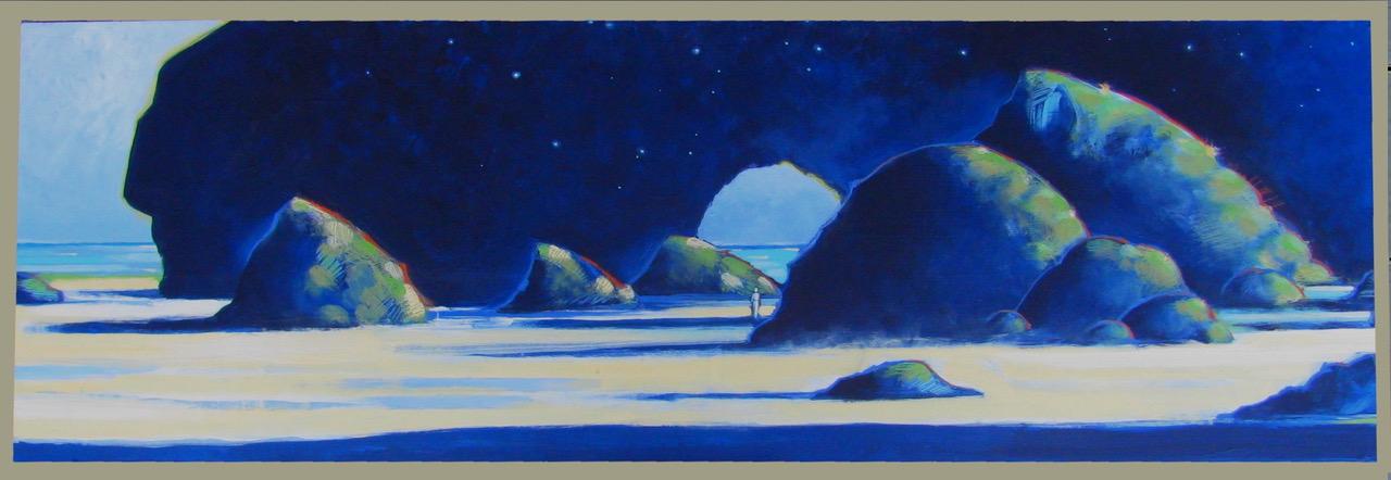 The Traveler, painting by Mark Daucher