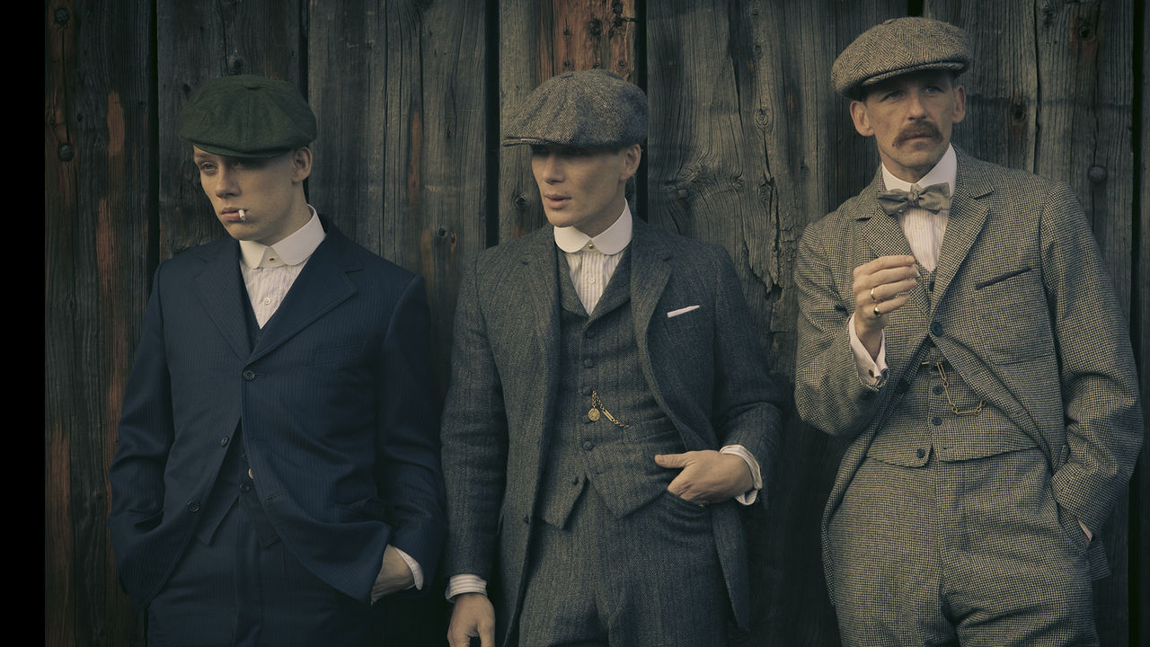 GlasgowLiving, Peaky Blinders, three men