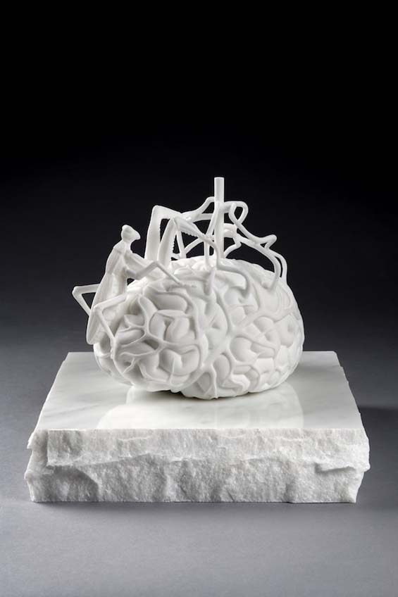Jan Fabres Bizarre Marble Sculptures Of Human Brains