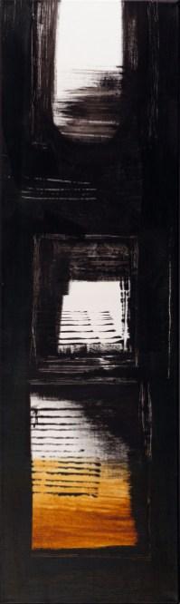 his way, acryl auf leinen, 100x30cm, 2014