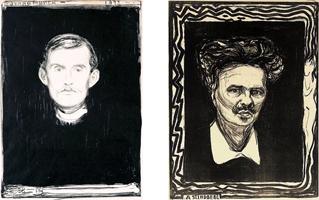 Edvard-Munch-August-Strindberg-art-satire-comedy-humor