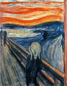 Scream-Edvard-Munch-August-Strindberg-art-satire-comedy-humor