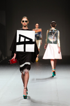 Fashion runway models