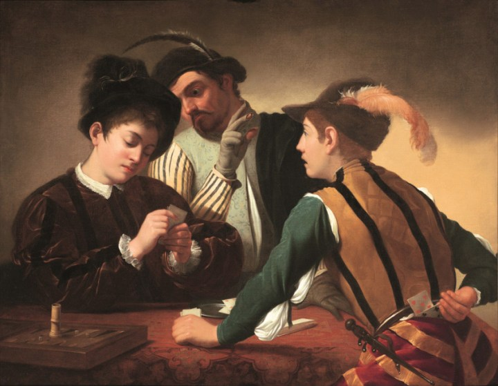 Caravaggios-The-Cardsharps-is-on-display-at-the-Museum-of-the-Order-of-St-John