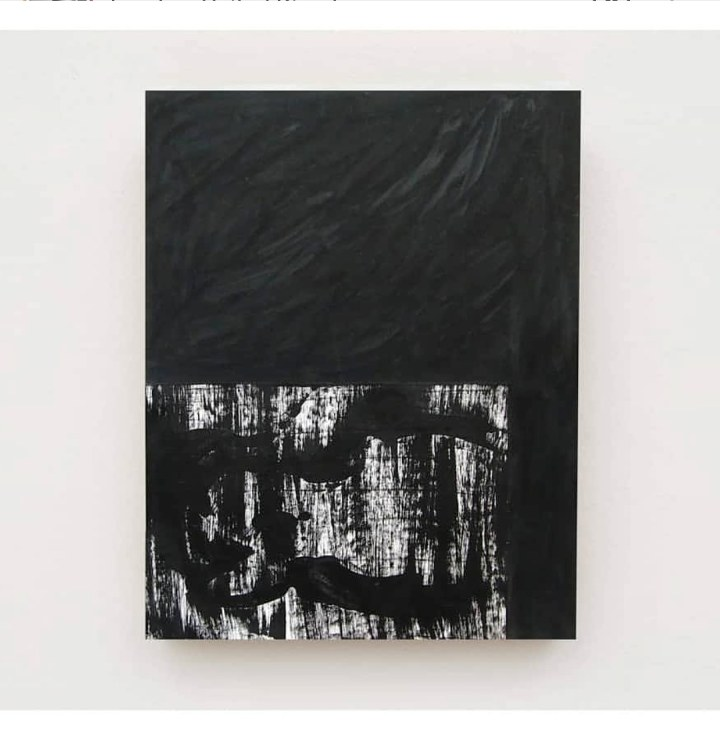 BLACK 1 acrylic paint on EVA foam 51x40cm