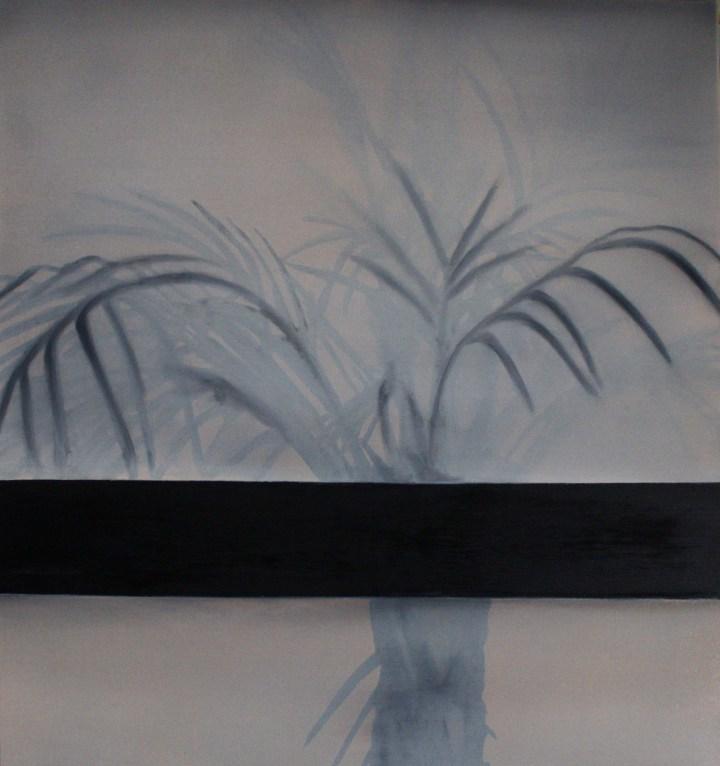 Celui qui rentra le dernier, 2019, huile sur toile, 100 x 90 cm