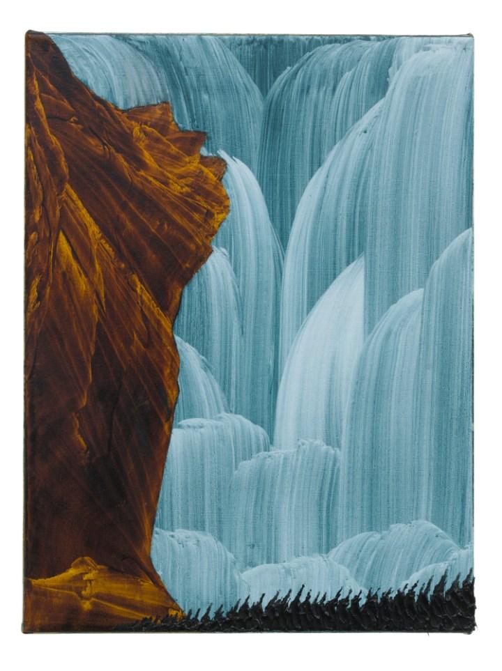 David Borgmann, untitled (ST73), 40cm x 30cm, oil on linen, 2018
