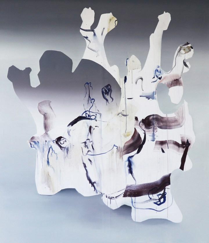 Judith Grassl,Gegen den Bösen Blick II,Acrylic on canvas,150x130cm,2018
