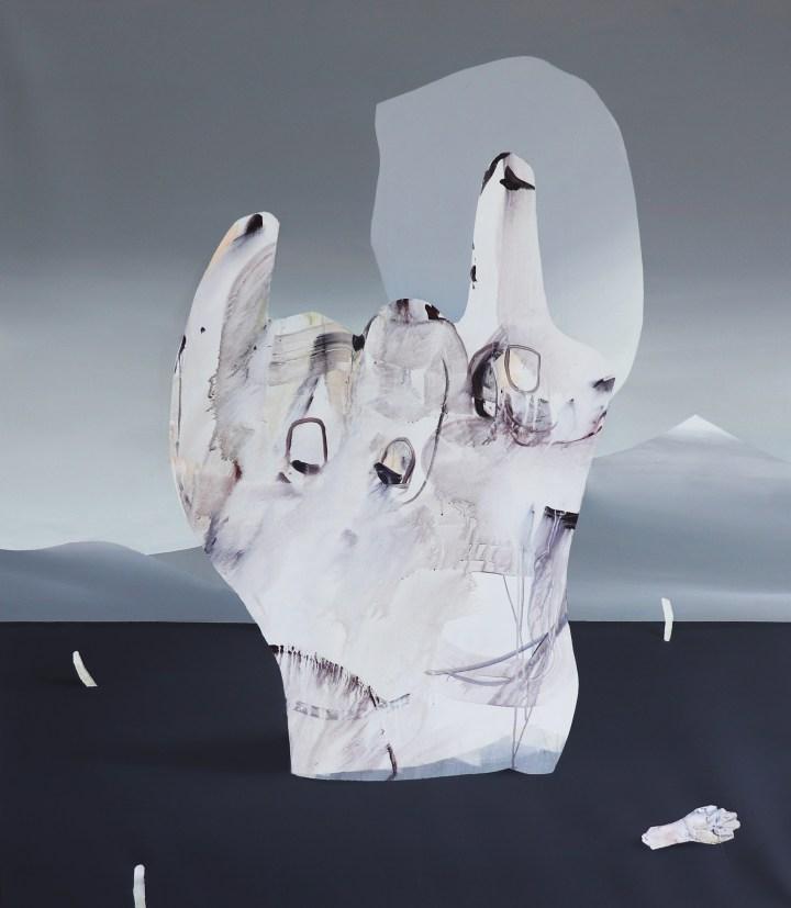 Judith Grassl,Gegen den Bösen Blick,Acrylic on canvas,170x150cm,2018