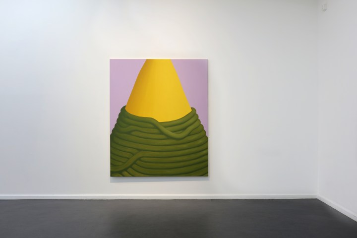 Pia Krajewski, 2019-04, COME CLOSE STEP BACK, Künstlerhaus Bethanien Installationview (Spitze) 180x150cm, courtesy of private collection