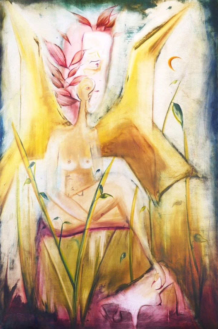1. Eleni Odysseos, Suspension, Oil on plywood, 80 x 120 cm, 2020