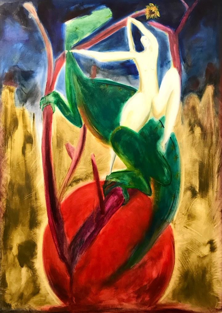 3. Eleni Odysseos, Starry Lizard, Oil on canvas, 135 x 180 cm, 2020
