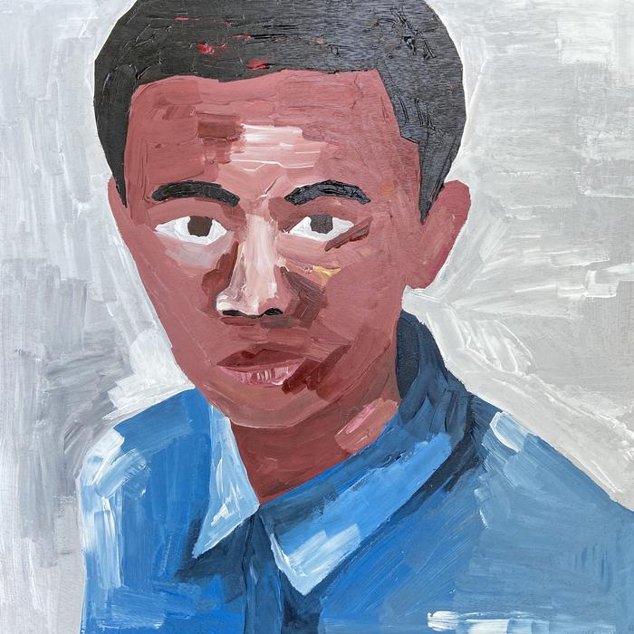 Soimadou Ali Ibrahim, Youthful Innocence, 2020, Acrylic on wooden panel, 30 x 30 cm