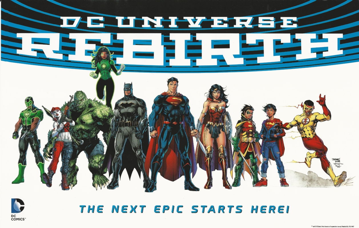 Image result for DC REBIRTH poster