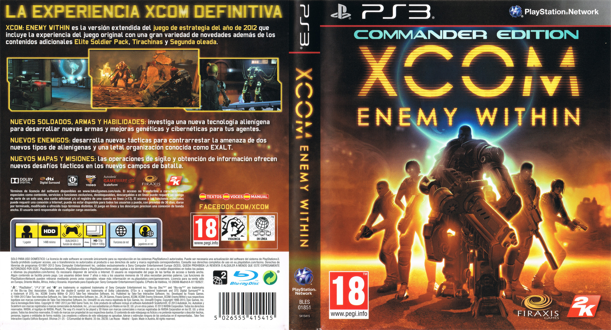 BLES01851 XCOM Enemy Within Commander Edition