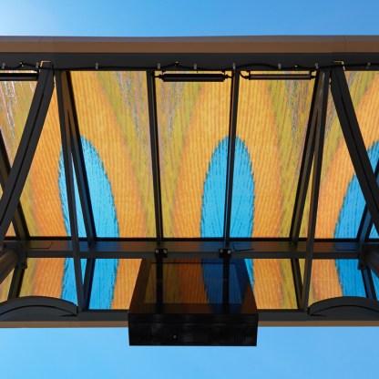 View of art above platform.