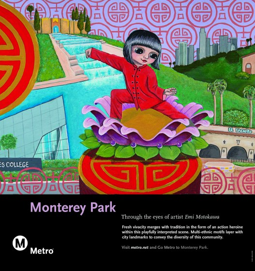 Art in colorful animation style depicting a multi-ethnic community.