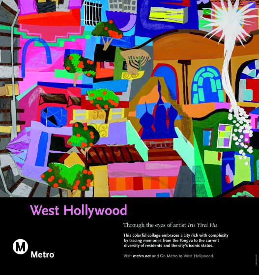Colorful collage depicting West Hollywood.