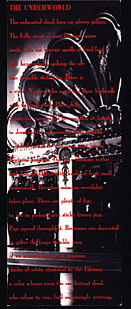 Image of bookmark with text and imagery.