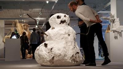 Tony Tasset sculpture at Next. Photo by Paul Germanos.