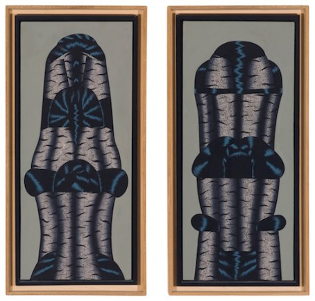 """In Body Doubles: Christina Ramberg, """"Sleeve Mountain #1"""" and """"#2,"""" 1973. Collection Museum of Contemporary Art Chicago, gift of Albert J. Bildner. Photo: Nathan Keay, © MCA Chicago."""