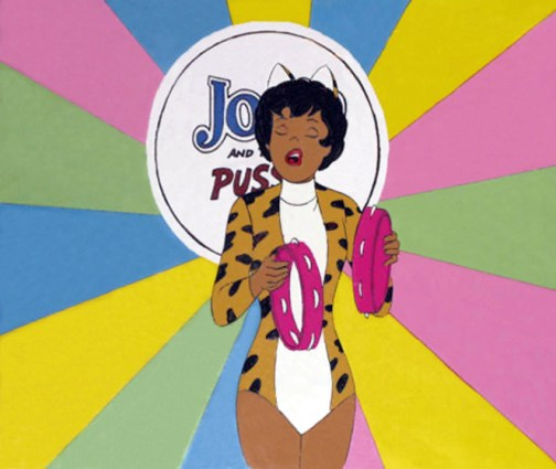 Josie And The Pussy Cats original production cel, 1970-71, Hanna-Barbera Productions, CBS