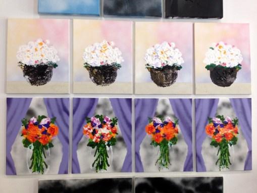 Paintings by Morgan Manduley shown by Yautepec at EDITION