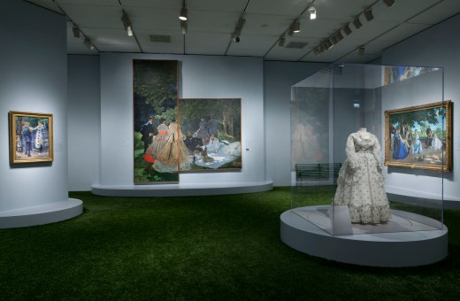 Installation shot of Impressionism, Fashion, and Modernity at the Art Institute of Chicago