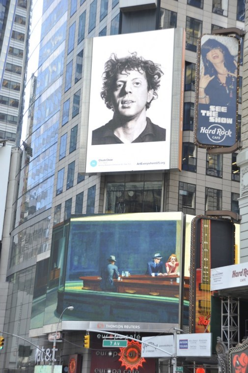 billboards in the Art Everywhere campaign