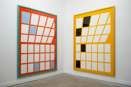 "Andrew Falkowski. ""Light/Industry/Coating"" installation view at Paris London Hong Kong."