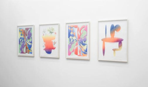"Installation view of Aron Gent's ""Pure Pictures, Perfect Prints"" exhibition at Devening Projects + Editions"
