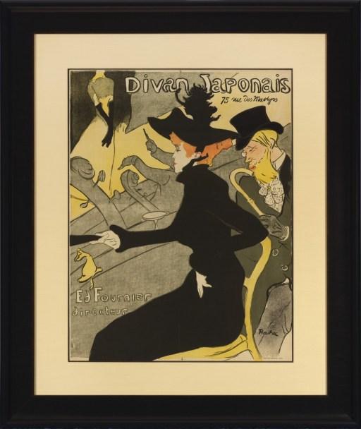 """Henri de Toulouse-Lautrec. """"Divan Japonais,"""" 1893 lithograph, 32"""" x 23 3/4"""""""