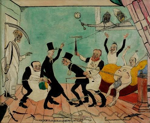 "James Ensor. ""The Bad Doctors,"" 1892"