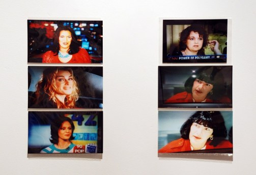 "Bertram Litoff. ""Untitled,"" c. 2003-2005, digital photographs of paused live television, 4"" x 7"" prints."