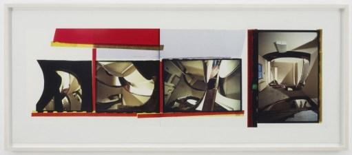 """Gordon Matta-Clark. """"Circus,"""" 1978 silver dye bleach print (Cibachrome), 29 1/4"""" x 73 1/4"""""""