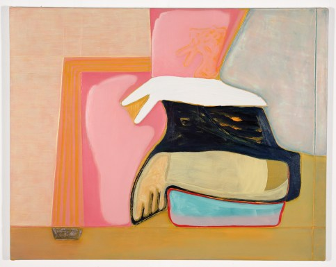 "Magalie Guérin. ""Untitled (hat-Albuquerque),"" 2015 oil on canvas, 16"" x 20"""