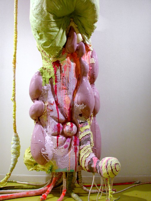 """Nancy Lu Rosenheim. """"Thitpok with Lianas and Arched Back,"""" (detail view), 2015 polystyrene, epoxy resin and mixed media 120"""" x 39"""" x 31"""""""