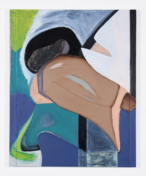"Magalie Guérin. ""Untitled (hat-beast),"" 2015 oil on canvas, 20"" x 16"""