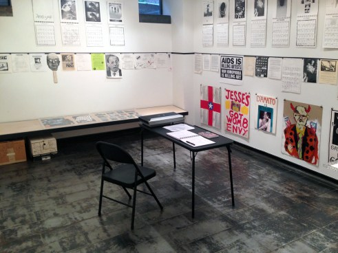 """Installation view of """"Militant Eroticism"""" at Iceberg Projects"""