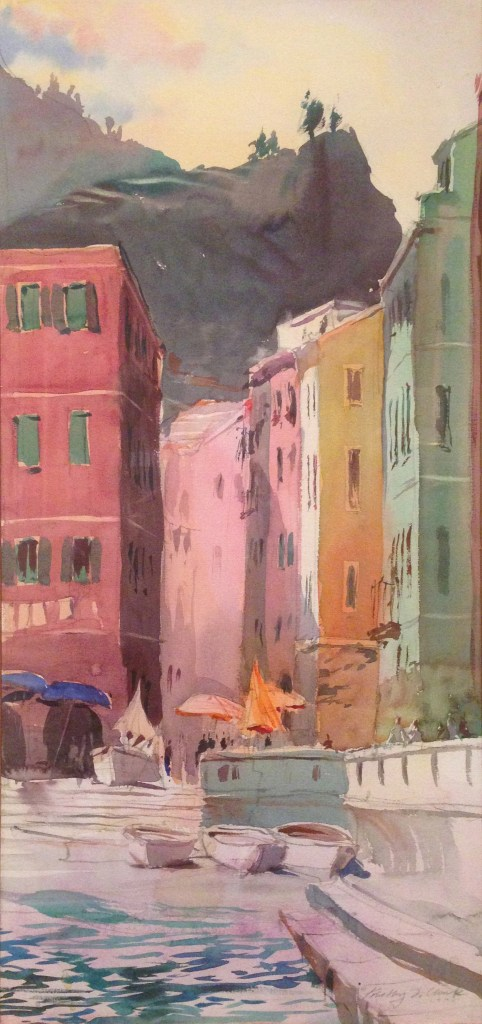 "Timothy J. Clark. ""Vernazza, 1994,"" 1994 watercolor on paper"