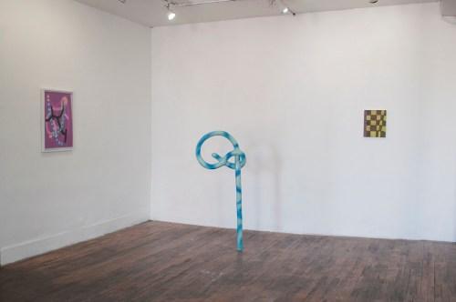 "Installation view, ""Awkward Dimensions,"" 2015."